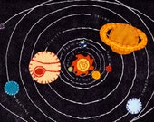 PATTERN: solar system wool felt pillow sham