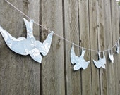 blue lace birds wedding garland