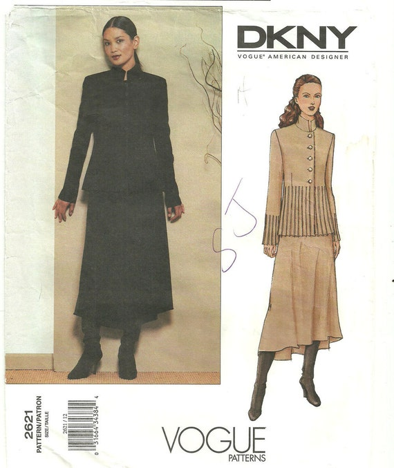 Vogue Designer Sewing Pattern by Donna Karan 2621 Size 12