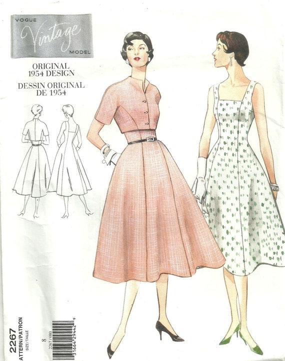Vogue 2267 Reproduction Fifties Sewing Pattern