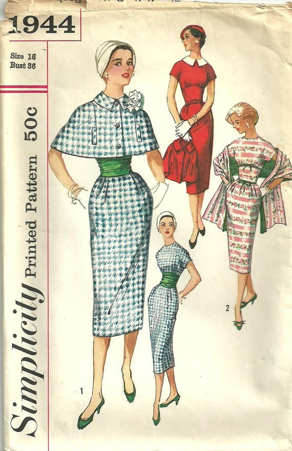 Vintage Fifties Sewing Pattern from Simplicity 1944