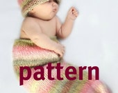 Newborn Cocoon KNITTING PATTERN and Hat, Baby Photography Props, Sell What You Make, Digital Download