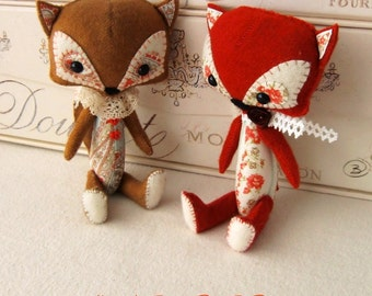 Woodland Fox pdf Pattern - Instant Download