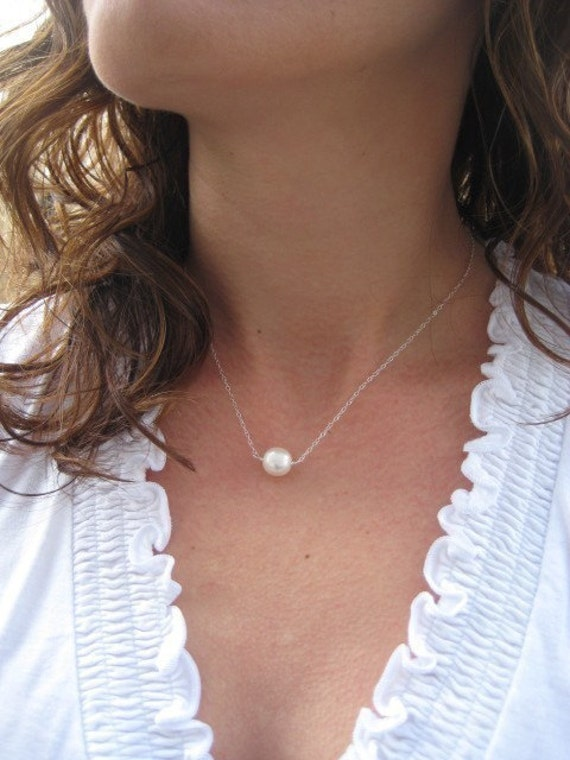 Pearl Necklace, Bridesmaids Gift