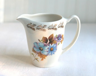 Lord Nelson Pottery England Blue Floral Pitcher