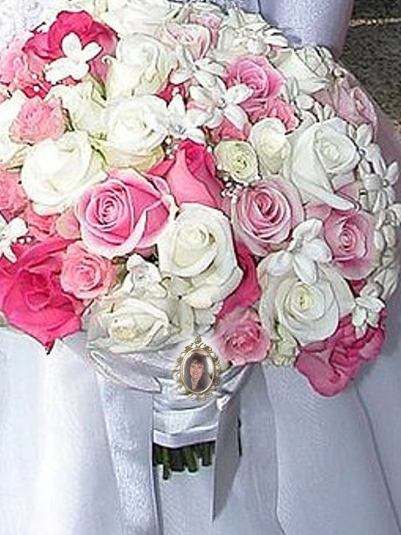 Wedding Bouquet Memorial Photo Charm - FREE SHIPPING