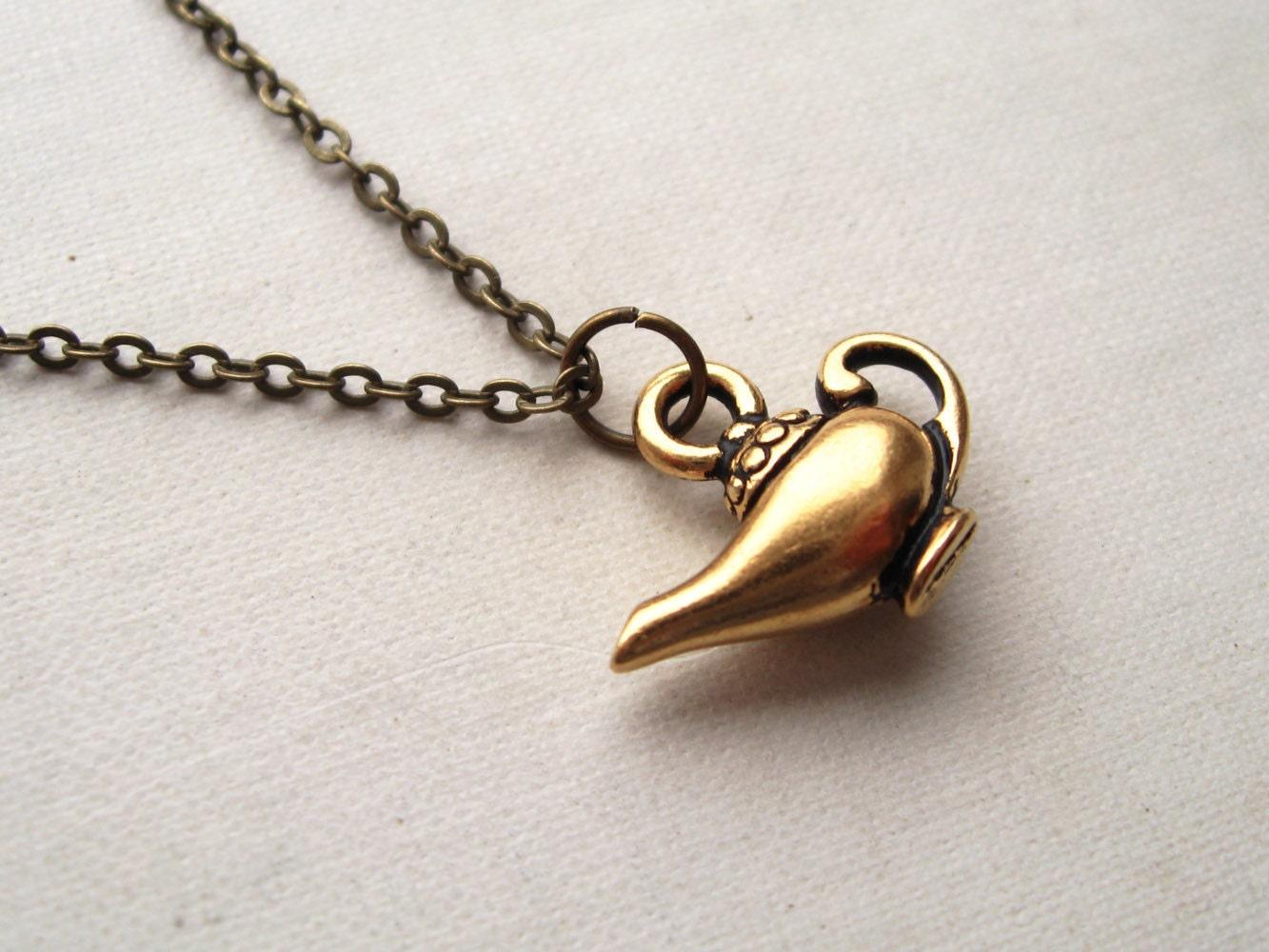 Aladdin S Lamp Necklace Arabian Nights Charm Necklace