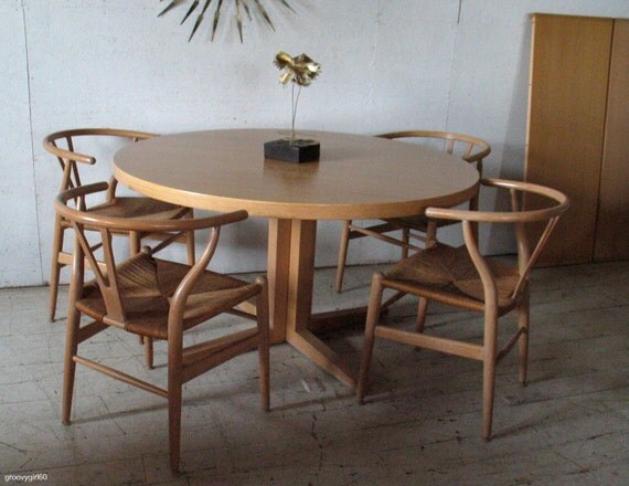 Reserved for Julia ~ Danish Modern dining table Danish Modern Round Extension Dining Table Heltborg Mobler Denmark