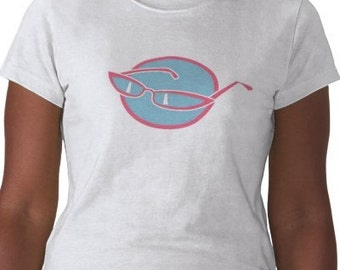 Sunglasses T-Shirt  - Graphic Tee - Womens Short Sleeve Cotton Tee