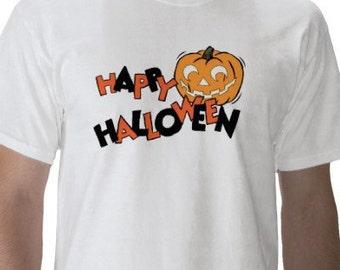 Halloween Shirt - Graphic Tee - Mens Short Sleeve Cotton Tee