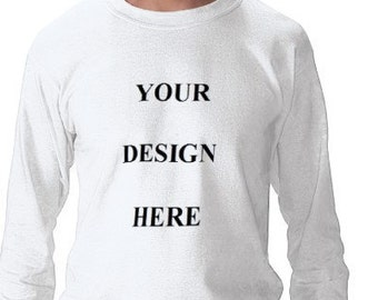 Custom Tee Shirt - Mens - Long Sleeve Cotton Tee