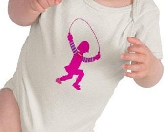 Jumprope - Graphic Tee - Baby Bodysuit - Short Sleeve Cotton