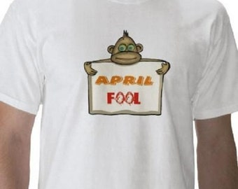April Fools Day T-Shirt - Graphic Tee - Mens Short Sleeve Cotton Tee
