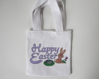 Easter gift bags etsy easter favor bags cotton canvas tote bags mini tote bags gift bags negle Images