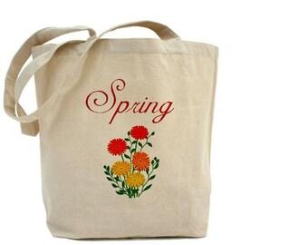SPRING - Cotton Canvas Tote Bag - Gift Bag