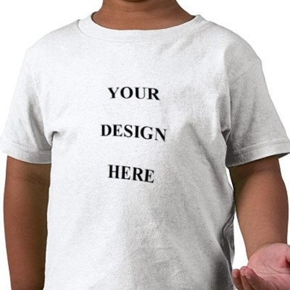 Custom Tee Shirt - Toddler - Short Sleeve Cotton Tee
