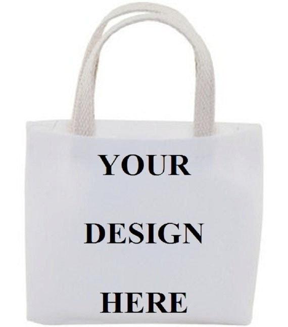 Custom Gift Bag Cotton Canvas Tote Bag Mini Tote Bag