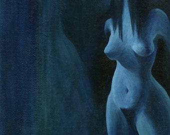 Faceless Nude - 8 x 10 Acrylic Painting