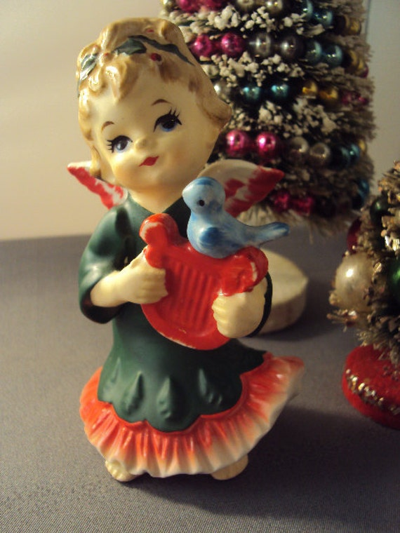 1950s Christmas Ceramic Reindeer Vintage White Ceramic