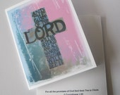 Christian Cross Card -The Glory of the LORD Cross Notecard - 1 Scripture Card, Religious Note Card, Encouragement Card