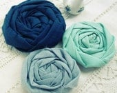 """fabric flowers tutorial """"Famous Rolled Rosettes"""" Pattern Pdf easy beginner ebook instructions - 4 sizes DIY how to make flowers"""
