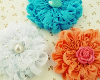 Fabric Flower Tutorial - Angie flower pattern PDF - photo tutorial sewing pattern - Instant Download