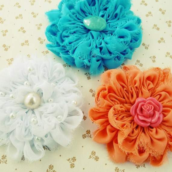 Fabric Flower Tutorial Angie Chiffon PDF - photo tutorial baby prop flower accessories ebook