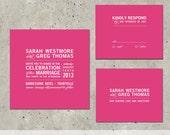 "wedding invitation square modern bold typography - ""Square"""