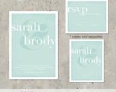 "modern wedding invitation - ""Ampersand"""