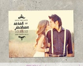 "save the date photo card - ""Rustica"""
