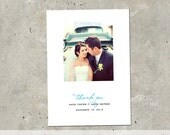 """wedding thank you photo card - """"Picture Perfect"""""""