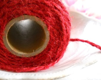 Red Jute Twine / 3 Yards