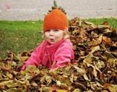 Crochet pumpkin hat custom 0-3 3-6 6-12 12-18 18-24 month 2t 3t 4t 5 6 7 8 9 child  youth adult