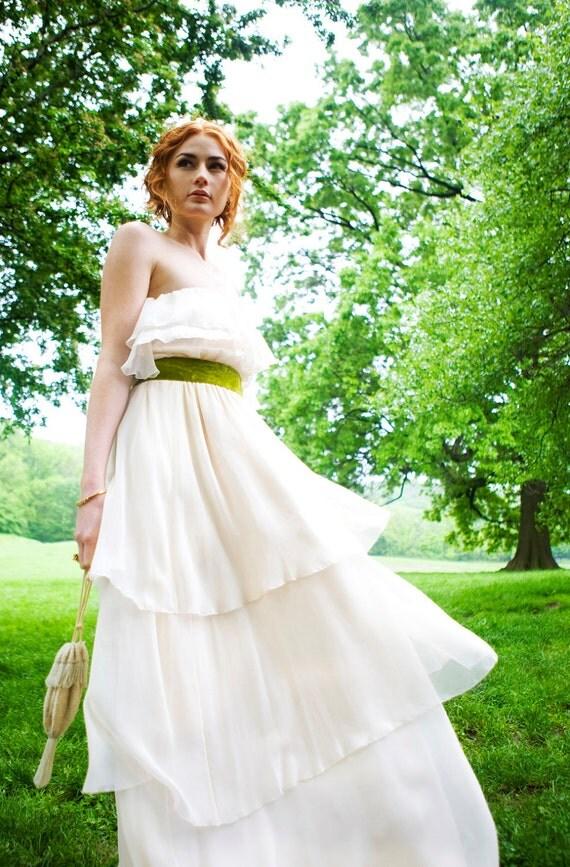 "50% deposit, Chiffon ""Harlow-Faith"" Bridal Gown- Customized for Allyson"