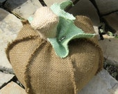 small coffee color  burlap pumpkin