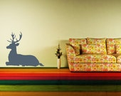 Wall Decal Deer Buck Animal Wildlife Hunting Nature Fathers Day Woodland
