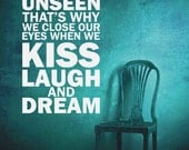 Wall Decal Words Quote Phrase Kiss Laugh Dream Expressions Lettering Typography Motivation Inspiration