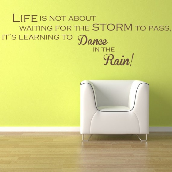 Items similar to Wall Decal Words Life Is Not About ...