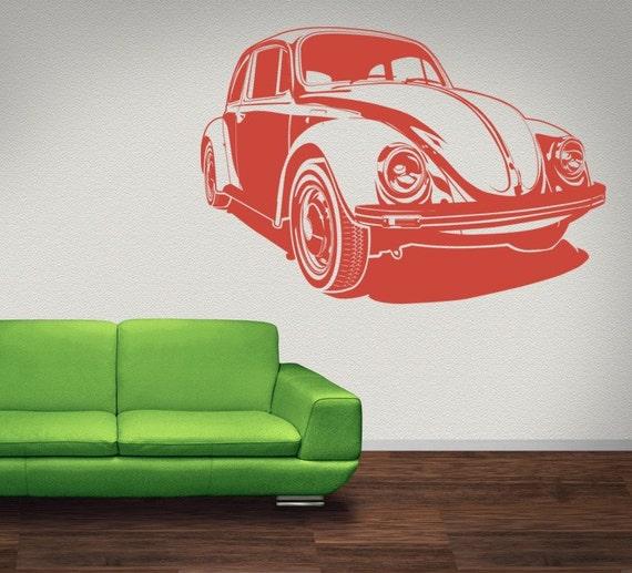 Car Wall Decal, Car Decal, Hippie Wall Decor, Dorm Decor, Modern Nursery Decor, Volkswagen Decal, Retro Wall Decal