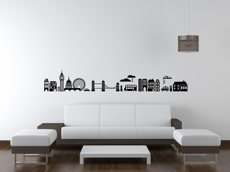 London skyline wall decal modern nursery decor london wall zoom amipublicfo Choice Image