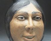 Decorative Vase Face Ikebana Vessel Friend Head Pot With Original Painting After Raphael's Saint John