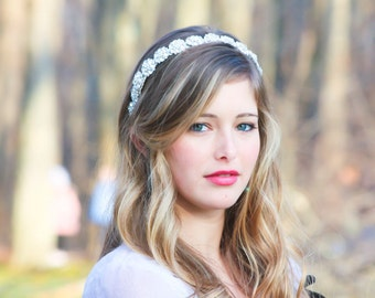 bridal headpiece, wedding accessories, crystal headband, rhinestone headpiece, bridal headband, Bridal Headband, Bridal Headpiece