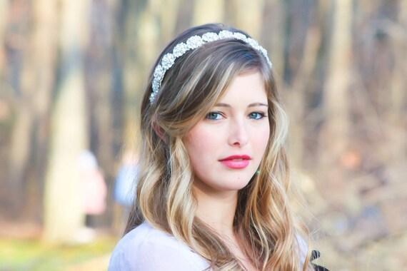 bridal headpiece, wedding accessories, crystal headband, rhinestone headpiece, bridal headband, Bridal Headband, Bridal Headpiece