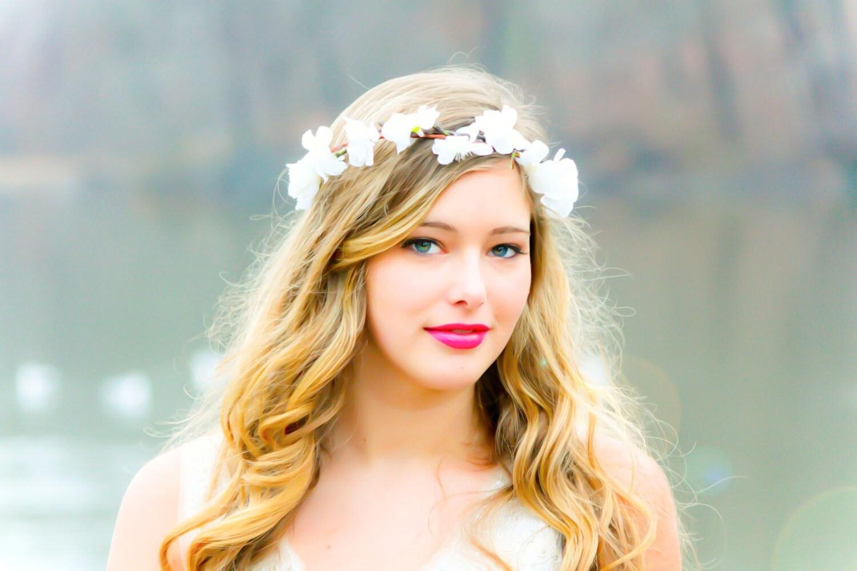 flower hair bridal flower crown wedding by serenitycrystal on Etsy
