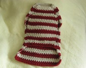 Cranberry red and wheat large sweater, large breed dog sweater, sweater for big dogs. big sweater for big dogs.