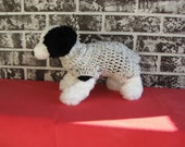 Dog sweater, med. dog sweater, large dog sweater, oatmeal color dog sweater.