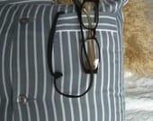 SALE Pair of Stuffed Shirt Stripey Pajama Shirt cushion covers