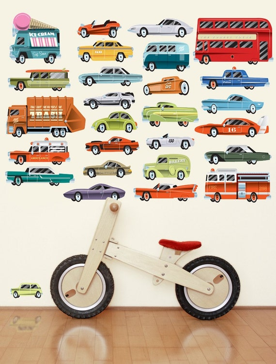 Cars Wall Decals Highway, Fabric Wall Stickers (not vinyl) - Large
