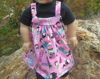China doll fabric outfit for American Girl doll
