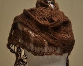 CLEARANCE! Brown Triangle Shawl